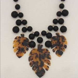 Tropical Leaf Bead Necklaces